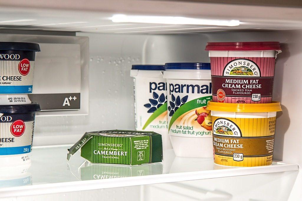 Produkty umiesczone w chłodziarce