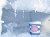 Produkty w lodówce przed rozmrożeniem