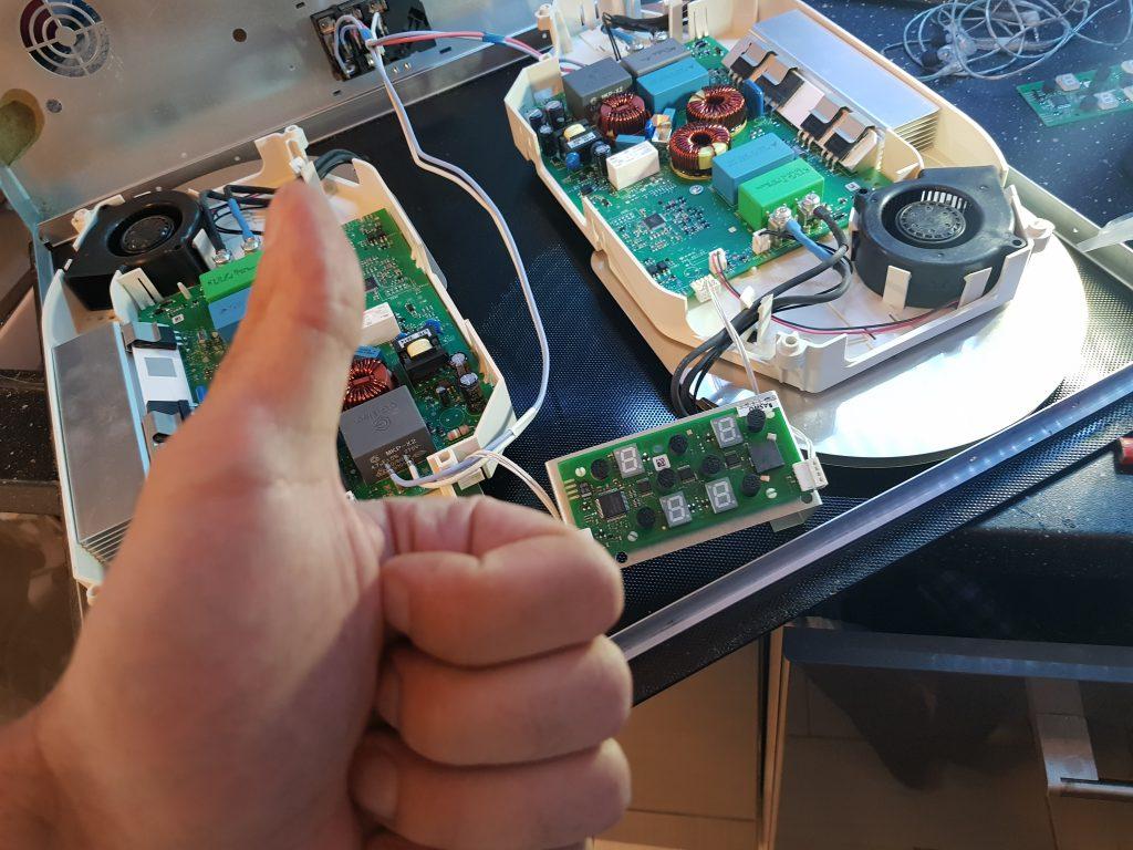 naprawa panelu sterowania w płycie indukcyjnej Amica
