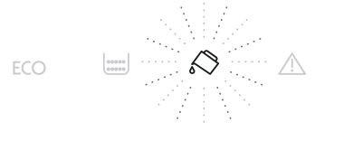 W ekspresie DeLonghi migają diody