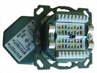 501417 SESIX NETZWERKDOSE CAT6A, 2XRJ45, HZUP, DESIGN, PW, SETEC SETEC