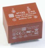 47152 31,7X21,8X26,7MM MYRRA PRINT-NETZTEIL EI30, 5-VDC, 4,5W