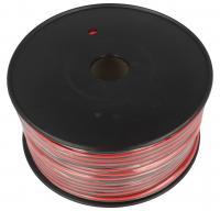 2X0,75MM Kabel głośnikowy, miedź, dł. 100m, 2x 0,75 mm2, czerwony/czarny