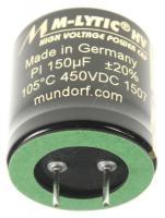 MLGO450150 150UF450V AUDIO HOCHVOLT-ELKO RADIAL 105° 30X30MM MUNDORF