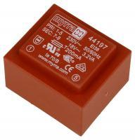 44197 18V178MA PRINTTRAFO 230V EI38 3,2VA 35,0X41,0X28,0MM
