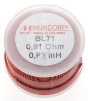 BL710,82 0,82MH0,81R MCOIL LUFT-SPULE, BACKLACK, 0,71MM-DRAHT, 30X20MM MUNDORF