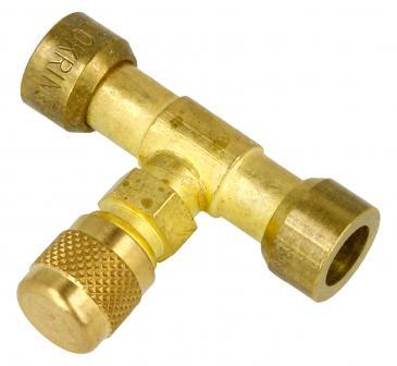 Złącze mosiężne 8mm z zaworem do klimatyzacji Lokring L13000778