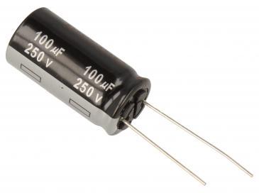 100uF | 250V Kondensator elektrolityczny 105°C ECA2EHG101 31.5mm/16mm
