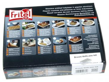 142361 SET BAKPLATEN WAFELS 4X6 FRITEL