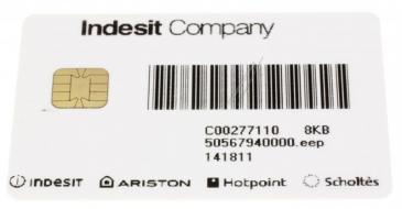 C00277110 482000031362 CARD ARXXL105IT 8KB SW 50567940000 INDESIT