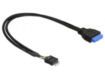 83095 DELOCK KABEL USB 3.0 PINHEADER BU>USB 2.0 PINHEADER ST 30CM DELOCK