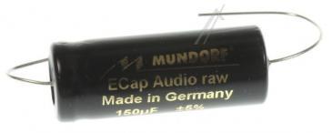 ECAP63150 150UF63V AUDIO ELKO AXIAL 85° 14X37MM BIPOLAR RAU MUNDORF
