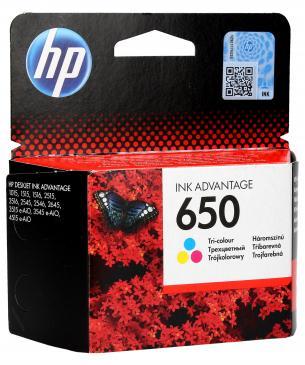 CZ102AE 650 HP TINTENPATRONE FARBIG DESKJET INK ADVANTAGE 25XX/35 HEWLETT-PACKARD