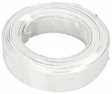 2X0,75MM Kabel głośnikowy, miedź/aluminium, dł. 25m, 2x 0,75 mm2, biały
