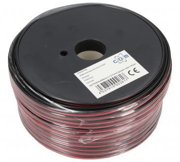2X0,75MM Kabel głośnikowy, miedź/aluminium, dł. 100m, 2x 0,75 mm2