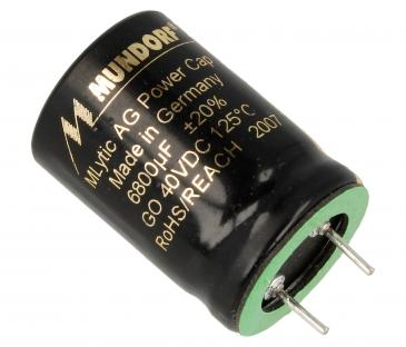 MLGO406800 6800UF40V AUDIO ELKO RADIAL 125° 25X35MM SNAP-IN MUNDORF