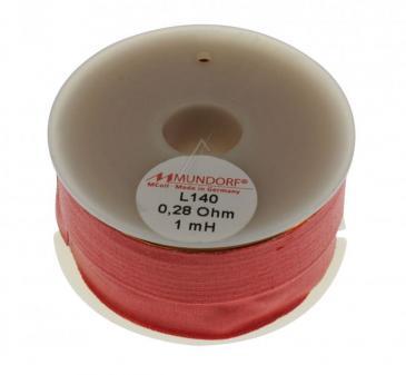 L1401,00 1MH0,28R MCOIL LUFT-SPULE, OFC-KUPFER, 1,4MM DRAHT, 58X28MM MUNDORF