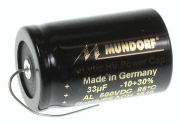 MLAL50033 33UF500V AUDIO HOCHVOLT-ELKO AXIAL 85° 25X38MM MUNDORF