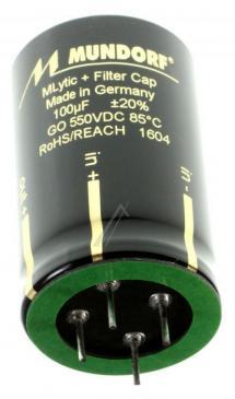 MLGO550100 100UF550V AUDIO FILTER-ELKO RADIAL 105° 35X55MM 4-POLIG MUNDORF