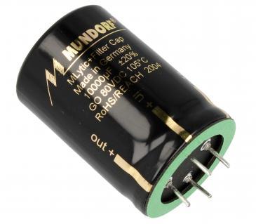 MLGO8010000 10000UF80V AUDIO FILTER-ELKO RADIAL 105° 35X50MM 4-POLIG MUNDORF