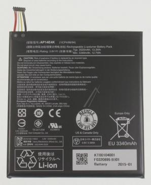 KT00104001 BATTERY.POL.1CELL.3420MAH.MAIN ACER
