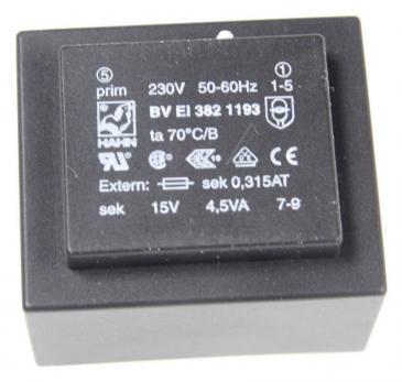 BVEI3821193 15V300MA PRINTTRAFO 230V EI38 4,5VA 35,1X41,0X28,1MM