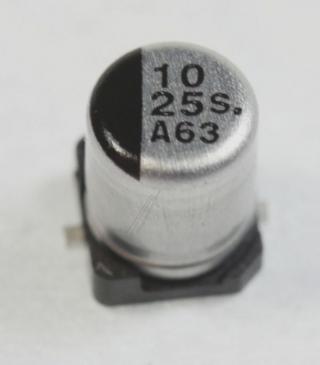 EEE1EA100WR 10UF25V Kondensator smd 85° 4X5,4MM PANASONIC