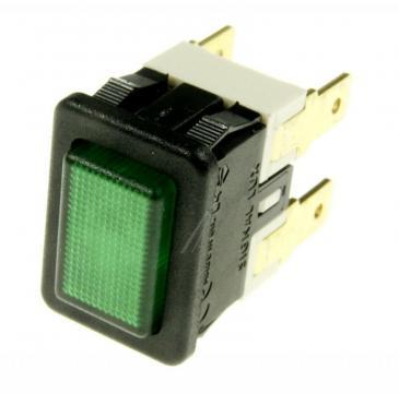 363525022 Przełącznik 250V 16A, seria 3635, wym. 19x13mm, zielony INTERBÄR