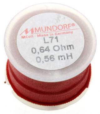 L710,56 0,56MH0,64R MCOIL LUFT-SPULE, OFC-KUPFER, 0,71MM DRAHT, 30X20MM MUNDORF