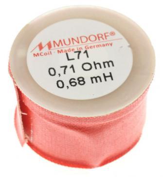 L710,68 0,68MH0,71R MCOIL LUFT-SPULE, OFC-KUPFER, 0,71MM DRAHT, 30X20MM MUNDORF