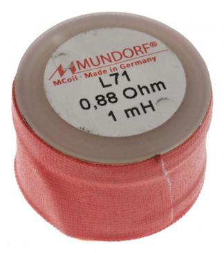 L711,00 1MH0,88R MCOIL LUFT-SPULE, OFC-KUPFER, 0,71MM DRAHT, 30X20MM MUNDORF