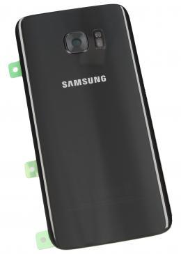 GH8211346A Klapka pojemnika na baterię dla Galaxy S7 EDGE, czarna SAMSUNG