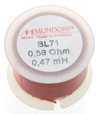 BL710,47 0,47MH0,58R MCOIL LUFT-SPULE, BACKLACK, 0,71MM-DRAHT, 30X20MM MUNDORF