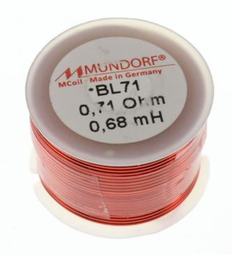 BL710,68 0,68MH0,71R MCOIL LUFT-SPULE, BACKLACK, 0,71MM-DRAHT, 30X20MM MUNDORF