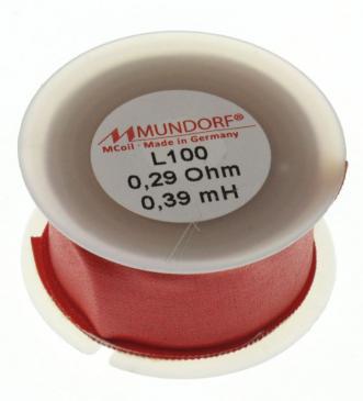 L1000,39 0,39MH0,29R MCOIL LUFT-SPULE, OFC-KUPFER, 1MM DRAHT, 40X20MM MUNDORF