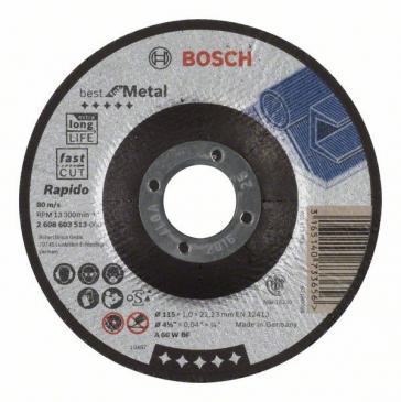 2608603513 TRENNSCHEIBE GEKRÖPFT BEST FOR METAL - RAPIDO BOSCH