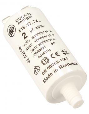 416177427 2,0UF450VFASTON6,3MM Kondensator rozruchowy wodoszczelny DUCATI
