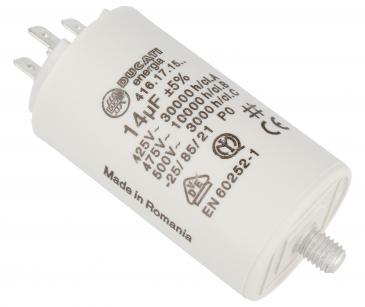 416171564 14,0UF400450VFASTON6,3MM Kondensator rozruchowy wodoszczelny DUCATI