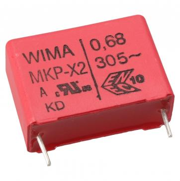 MKX2AW36805G00KSSD 0,68UF305V MKP-X2 ENTSTÖRKONDENSATOR RM=22,5MM -ROHS- WIMA