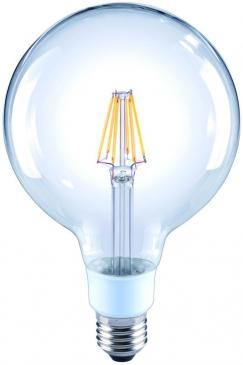 10101817 G120 FILAMENT LED E27, G120, 2700K, 7 WATT 810 LM KLAR, DIMMBAR ARTEKO