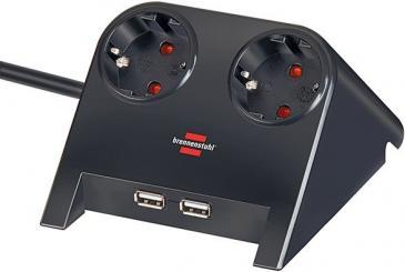 1153500222 DESKTOP-POWER USB-CHARGER MIT 2X USB-2.0-LADER 2100MA 2-FACH BRENNENSTUHL