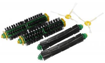 Zestaw szczotek (2 główne, 2 gumowe, 2 boczne) dla zielonej i czerwonej głowicy czyszczącej do robota odkurzającego 68199 ROOMBA 500/PRO