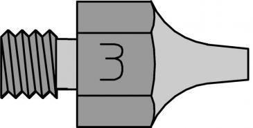 T0051351399 DS113 SAUGDÜSE 1,2MM-2,5MM LÄNGE 18MM MIT GEWINDE WELLER