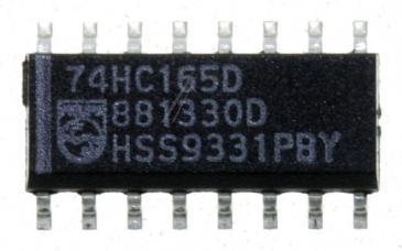 74HC165D,652 IC 74HC CMOS, SMD SOIC-16