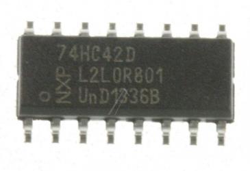 74HC42D LOGIC, 74HC, DECODER, SO16 TYP:74HC42D