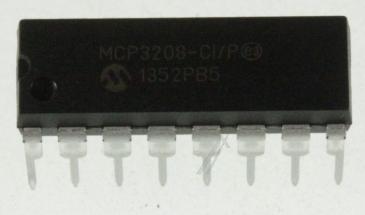 MCP3208CIP 12BIT ADC,3208,DIP16 TYP:MCP3208-CI/P