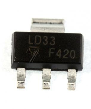 LD1117S33CTR SPANNUNGSREGLER LDO +3,3V, LD1117, SOT223-3 STMICROELECTRONICS
