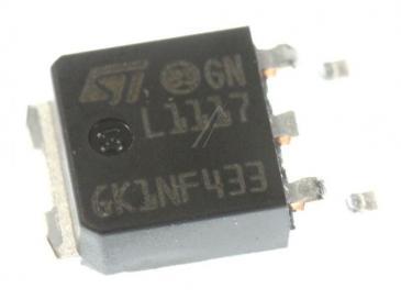 LD1117DTTR LD1117 SPANNUNGSREGLER LDO, EINSTELLBAR, +1,25V/15V, SMD, DPAK-3 STMICROELECTRONICS
