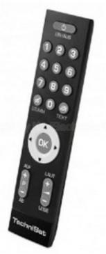 00003773 ISIZAPPER SENIOREN-FERNBEDIENUNG FÜR TECHNISAT RECEIVER UND TV TECHNISAT