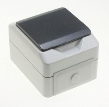 FSD100 FEUCHTRAUMSTECKDOSE,1-FACH, IP 44 AP - GRAU ASCI